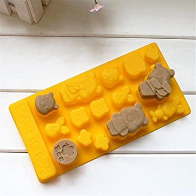 Yunko Winnie the Pooh Chocolate Candy Molds Chocolate Brownie Making Pan Supplies Food-grade Silicone Mold