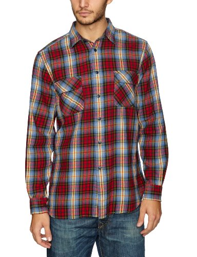 Dockers Casual Flannel Longsleeve Men's Shirt Bradbury - Rio Red Large