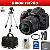 Nikon D3200 24.2 MP DSLR with 18-55mm VR Zoom Lens (Black) Package 5