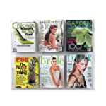Safco Clear2C 6 Magazine Display - Clear
