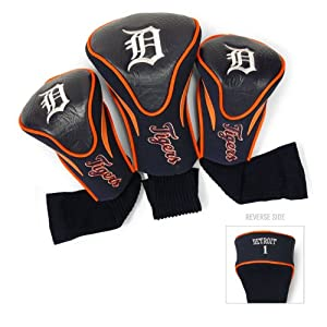 MLB Detroit Tigers Contour Head Cover (Pack of 3), Orange by Team Golf