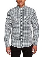 Ben Sherman Camisa Hombre House Mod Ls (Verde / Negro / Blanco)