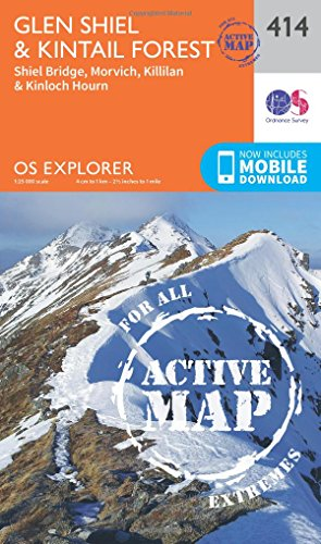 Glen Shiel and Kintail Forest 1 : 25 000 (OS Explorer Active Map)