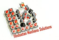 Hindustan Mechano Solutions - (20 Pieces)Tactile Switch micro - Push to ON button (20 Pcs) by Hindustan Mechano Solutions FOR ORIGINAL PRODUCT BUY FROM Hindustan Mechano Solutions ONLY. NO COMPENSATION OR REPLACE OR REFUND WILL BE GIVEN IF PURCHASED FROM ANY OTHER FRAUDULENT SELLER. WE HAVE OUR OWN BRAND AND PACKAGING AS SHOWN IN PICTURE. WE DON'T HAVE ANY SECOND OR THIRD PARTY SELLER.