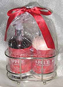Winter Candy Apple Caddy Gift set with Lotion & Hand Soap