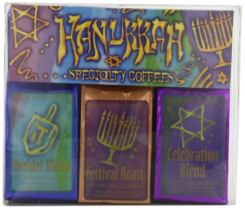 White Coffee Hanukkah Specialty Coffee Gift Sets (Pack of 2)