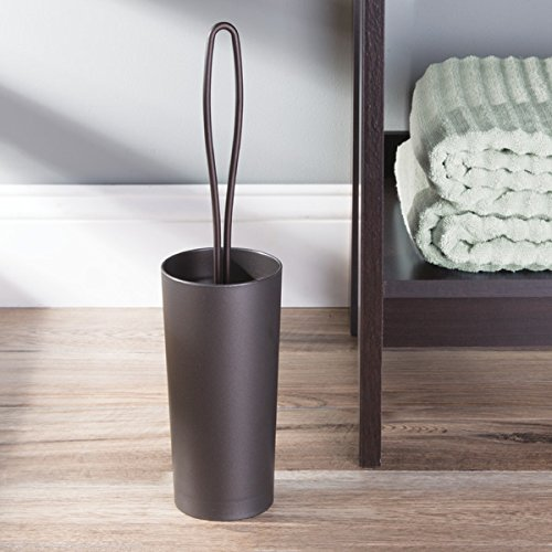 MDesign Loop Toilet Bowl Brush and Holder for Bathroom Storage - Bronze