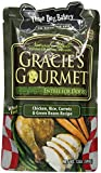 Three Dog Bakery Gracie's Gourmet Entree Food for Dogs, Chicken/Carrot/Green Bean/Rice, 12-Ounce