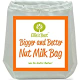 "Nut Milk Bag ★ TOP SELLER! ★ #1 Big 12""X12"" - Use It As Cheesecloth - But Works Better & Outlasts Cheese Cloth - The Best Designed Almond Milk Bag & Multipurpose Kitchen Tool - Fine Mesh Strainer & Almond Milk Maker - Even Lets You Do Vitamix Juicing Without A Juicer - INCLUDES A FREE BONUS RECIPE E-BOOK & HOW TO VIDEO - The Longest Lasting Strongest & Most Versatile Of The Nutbags - Triple Stitched - Reusable - Certified Food Grade Strainer & All-Purpose Nutmilk Bag ★ The #1 Rated - Blender Juicer - Yogurt Strainer - Cold Brew Coffee Maker - Indispensable for Cheese Makers - Perfect Kefir Making Tools - Sprouting Bag - Loved by Vegans - Vegetarians - Organic & Paleo - Raw Foodies and Healthy Eaters ★ We 100% Guarantee You Will Love It!"