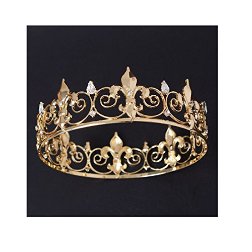 ff-mens-full-round-fleur-de-lis-kings-crown-gold-plated