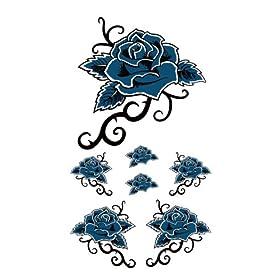 【クリックで詳細表示】祭化粧 R224 青薔薇トライブ(17.5cm x 10cm): 服&ファッション小物通販