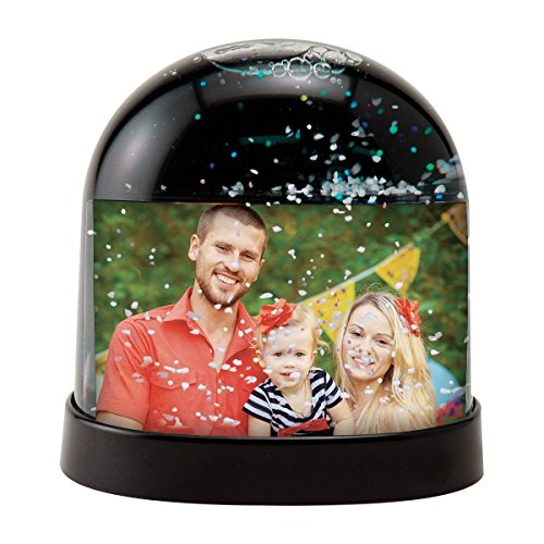 Horizontal Photo Snow Globe (Black) (Snowglobe Photo Insert compare prices)