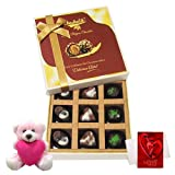 Cute Little Surprises Of Assorted Chocolates With Teddy And Love Card - Chocholik Luxury Chocolates