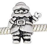 Charm Buddy Silver Plated Santa Claus Father Christmas Charm Bead Fit Pandora Bracelets
