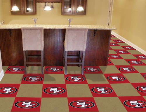 "NFL San Francisco 49ers - CARPET TILES (18""x18"") at Amazon.com"