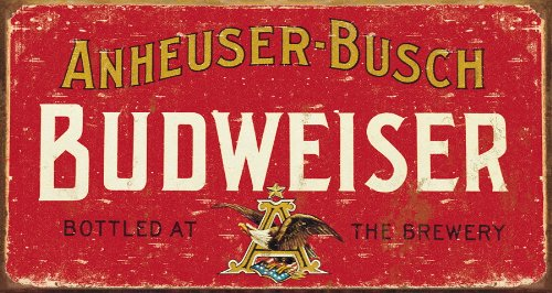 budweiser-weathered-antik-look-metallschild