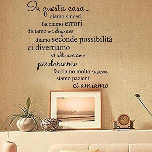 Lifeup disegn originale  adesivo murale frase in italiano ...
