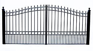 London Style Iron Wrought Gate 14' High Quality Ornamental Dual Swing Driveway Gates 14'