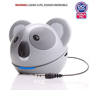 GOgroove Koala Pal High-Powered Portable Speaker System for MP3 Players, Smartphones, Laptops, Tablets and More $16.99