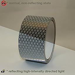 Reflexite REF-DB Retroreflective V92 Daybright Tape: 2 in. x 15 ft. (Silver-White)