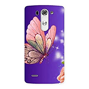 Delighted Butterfly Pinkish Back Case Cover for LG G3 Beat