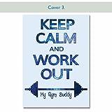 Gym Formation Agenda, 12Semaine journal d'exercice, Hommes & Femmes, Carnet, les répétitions, poids COVER 3...