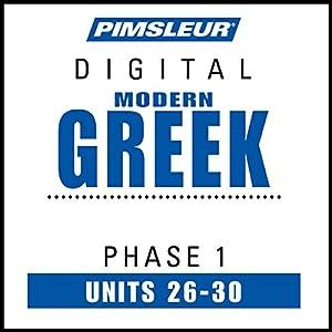 Greek (Modern) Phase 1, Unit 26-30 Audiobook