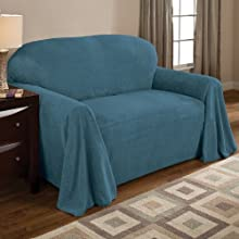 Innovative Textile Solutions Coral Fleece Furniture Throw 70 by 90-Inch Teal