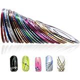 TNBL Nail Art Stripes Nail Art Stripes Tape Zierstreifen Packung mit 10 Rollen Striping Tape in verschiedenen Farben