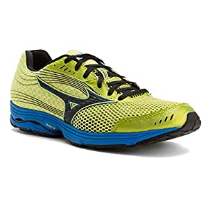 Mizuno Men's Wave Sayonara 3 Running Shoe, Bright Lime/Black, 13 D US