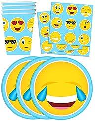 Emoji Birthday Party Supplies Set Pla…