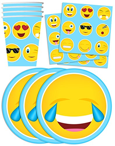 Emoji-Birthday-Party-Supplies-Set-Plates-Napkins-Cups-Tableware-Kit-for-16
