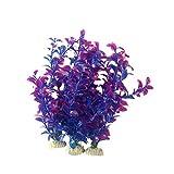 Timbakhtoo Aquarium Décor Deep Sea Purple Vining Plant (Medium Pack Of 3)
