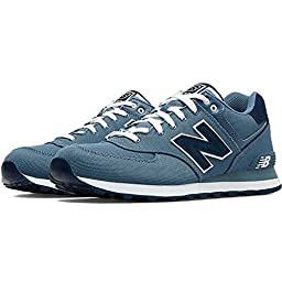 New Balance Men\'s ML574 Pique Polo Collection Running Shoe, Chambray, 10 D US