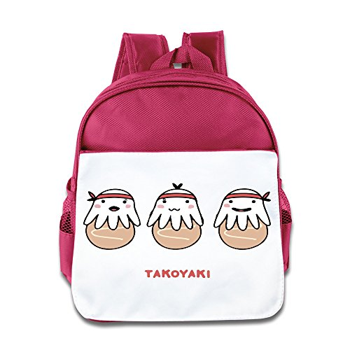 Kid's Japan Cute Small Octopus Balls Funny Backpack School Bag For Both Boys And Girls Pink