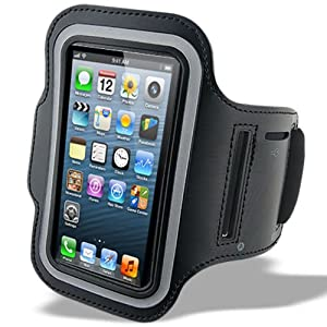 Sports Running Jogging Armband Gym Case Cover for iPhone 5 5G 5S - Black