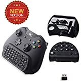 Megadream® [Upgrade Version] 2.4Ghz Mini Wireless Qwerty Keyboard Gaming Joypad Chatpad Keypad Gamepad Text Messenger Compatible w/ Audio Device and Latest Edition Controller for Microsoft Xbox One