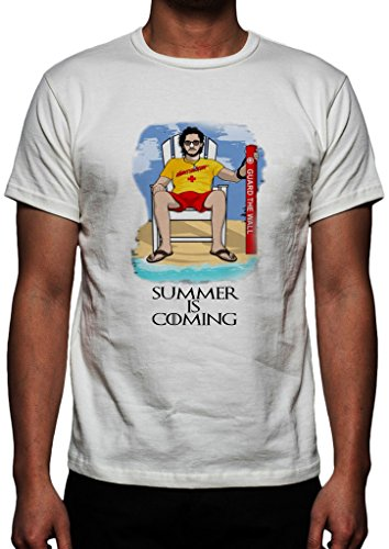 GameOfThrones Jon Snow In Iron Pool Party Chair Summer Is Coming Shirt Custom Made T-shirt (XXL)