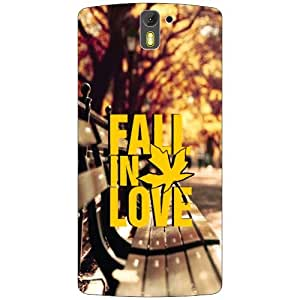 Oneplus One A0001 Back Cover - Fall In Love Designer Cases