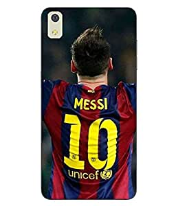 Make My Print Messi Printed Colorful Hard Back Cover For LYF WATER 8