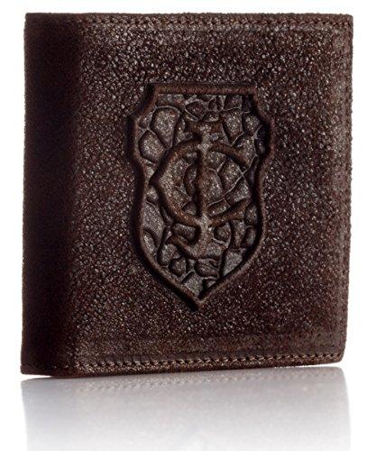 Just Cavalli Mens Dark Leather Portafoglio