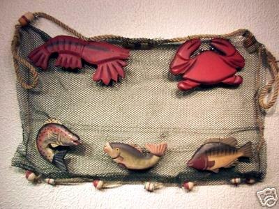 Wood Fish,Crab,Lobster,Bobber,Net Netting 20