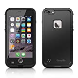 Easylife iPhone6 ケース アイフォン6ケース 防水カバー 手帳型 耐衝撃 耐震 (iphone6, ブラック)