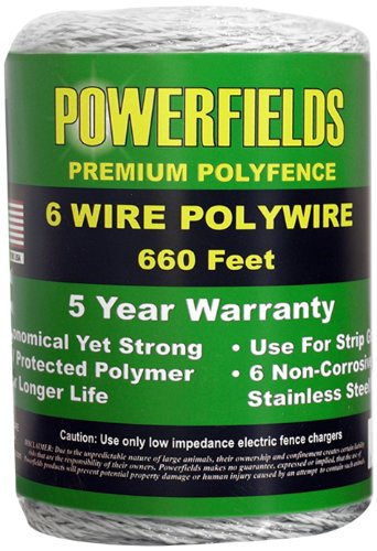 Powerfields Ew615-660 6 Polywire, 660-Feet, White