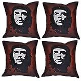 MeSleep Digital Print Che Guevara 4 Piece Cushion Cover Set - Multicolor