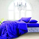Oxford Duvet Cover Double DARK PURPLE