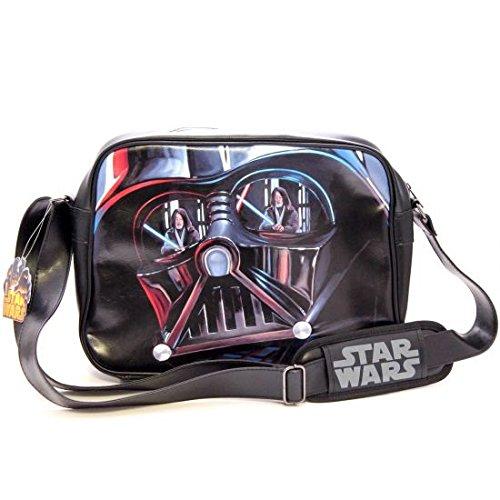 Star Wars-masque de Dark Vador) Sac à bandoulière (Noir)