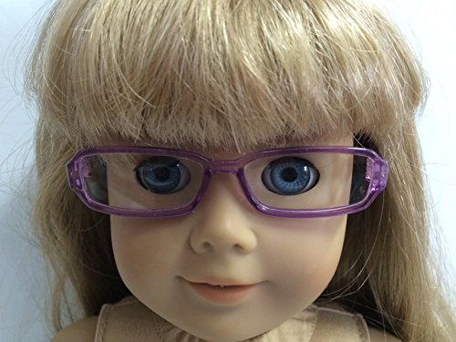 Purple Rimmed Eyeglasses made for 18 inch American Girl Dolls - 1
