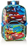 Disney Boys 2-7 Cars Neon Backpack with Lunch Set