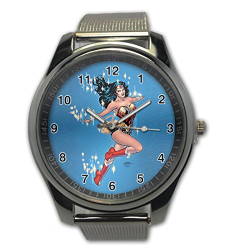 Wonder Woman Design Snap On Watch Stainless Steel